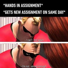 It's a loop that never ends. Follow @9gag - - - #9gag #school #studying #theincredibles
