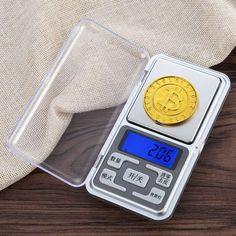 Baking Balance Weight Digital Mini Scale with Back-Lit LCD Display for Digital Pocket Scale, Digital Scale, Conditioner, Herbs, Baking, Mini, Bakken, Herb, Backen