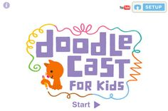 Doodlecast for Kids is an iPad app that allows kids to draw on a whiteboard and record their voice while drawing; a kid's version for creating animated videos. Doodlecast for Kids has also a gallery of more than 20 story prompts to help struggling students. Students can either pick out one from the prompts or start from scratch.