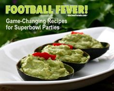 Football Fever! A fun, football-friendly collection of game-changing recipes for Superbowl parties. Party on! All recipes include WW points!