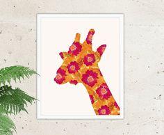 Instant Download Giraffe Print Giraffe Art Giraffe Poster