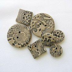 Viktoria Slutsky - Claying Mama: polymer clay buttons