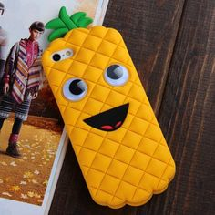 OMG Googly eyes lol. New Design Unique Creative Cute 3D Pineapple Shaped Soft Silicone Gel Cases Covers for Apple iPhone 5 5S 5G Fun Gift for Kids Girls Women Boy Fruit Shape Luxury-Phone-Accessories http://www.amazon.com/dp/B00H0TMW7I/ref=cm_sw_r_pi_dp_1IOaub0WYDFFT