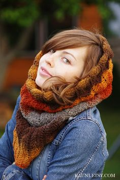 Warm Snood Scarf for woman Welcome Autumnmade from Kauni by Kauni, $50.00