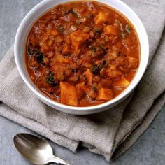 Lentil Vegetable Curry with Tomato + Coconut Milk