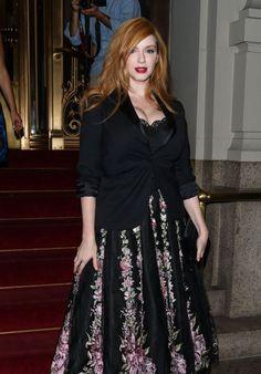Christina Hendricks - Marchesa Show at New York Fashion Week, September 2015