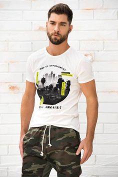 Camiseta Manga Corta Cuello Redondo Marfil Polo Hombre 1238456f3bf10