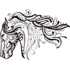 This free embroidery design from Embroidery Online is a horse head.