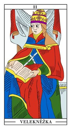 Tarotová karta Velekněžka