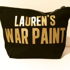 PERSONALISED WAR PAINT BLK/GOLD