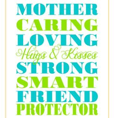 Turquoise and Lime Mothers Day Printable from Jones Creek Creations