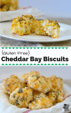 Cheesy, garlic biscuits that will have you reminiscing of your pre-gluten free days! Quick and easy, these gluten free Cheddar Bay Biscuits will be a family favorite! via @glutenfreemiami