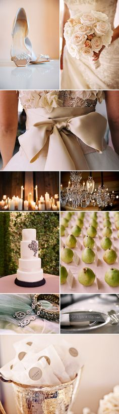 #Ivory, #Champagne and #Silver.