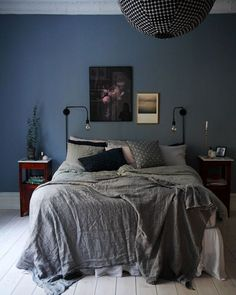 Blue Grey Paint Color Bedroom Blue And Grey Walls White Grey And Blue Bedroom The Best Blue Gray Bedroom Ideas On Best Grey Paint Colors Bedroom – the bedroom design Blue Rooms, Blue Bedroom Walls, Grey Bedroom Design, Bedroom Colors, Home, Interior, Bedroom Inspirations, Home Bedroom, Home Decor