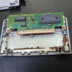Going to attempt to save this Perfect Dark board from the rust that has been sitting in the cart for what looks like a long time. #retrofix #retrofixgaming #retrocollectiveus #retrocollective #restorations