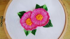 Hand Embroidery: Loose Flower Stitch - YouTube