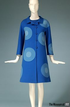 Designer: Mila Schön  1919 - 2008  Medium: Blue double faced wool  Date: 1968  Country: Italy
