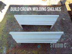 How to Build a Ledge Shelf with Crown Molding Shelves are one of those decor pieces one can never get enough of… They are versatile in the way that they can hold books, office or craft suppli…