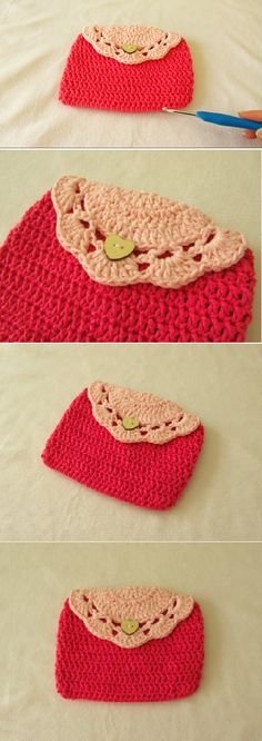 Crochet Easy and Fast Purse/Clutch Tutorial