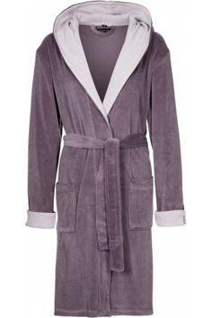 Purple bathrobe for women.