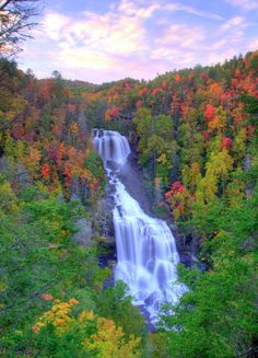 ✮ Whitewater Falls in North Carolina    -lovely landscape, why do people feel the need to over saturate everything!!!