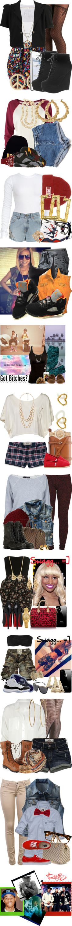 """tee-hee , swag."" by imsimplyyme ❤ liked on Polyvore"