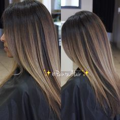 Happy #Friday! Here is a Blended Vanilla Latte melt❤️✨ #brunettehair #straighthair #licensedtocreate #b3 #brazilianbondbuilder