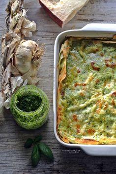 Lasagne al pesto Risotto Recipes, Pasta Recipes, Salad Recipes, Cooking Recipes, Savoury Recipes, Best Italian Recipes, Great Recipes, Favorite Recipes, Lasagne Pesto