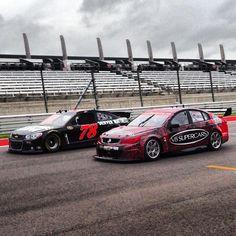 NASCAR vs V8 Supercar at Texas Aussie Muscle Cars, V8 Supercars, Nascar, Touring, Race Cars, Super Cars, Texas, Racing, Vehicles