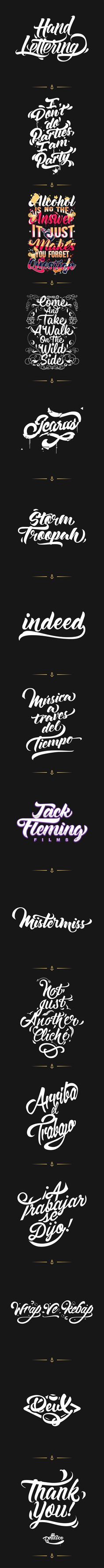Hand Lettering on Behance by Pellisco