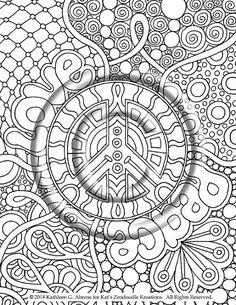 Peace ... a perfect title for this adorable zendoodle!    Youre never too young or too old to have fun coloring!!!    Just print this onto 8
