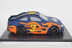 Village CakeCraft NYC: sculpted race car cake based on Ceci New York design 7th Birthday Cakes, Dinosaur Birthday Cakes, Race Car Birthday, Cars Birthday Parties, 1st Boy Birthday, Birthday Ideas, Birthday Stuff, Car Cakes For Boys, Race Car Cakes