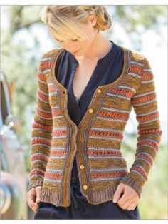 Fall Fields Cardigan | InterweaveStore.com