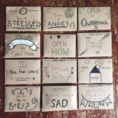 Ideas birthday gifts ideas for boyfriend diy open when letters Bf Gifts, Noel Gifts, Easy Gifts, Diy Bff Gifts, Bestie Gifts, Craft Gifts, Sister Gifts, Birthday Gifts For Best Friend, Best Friend Graduation Gifts