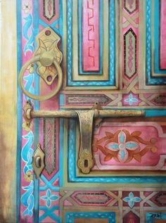 The Gilded Door by Studio Zaki | Acrylic on Canvas | Size (W x H): 30 x 40 inch