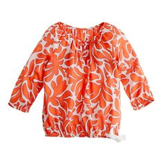 J. Crew - Girls' blouson top in printed cotton