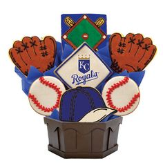 Kansas City Royals fans will love this tasty cookie bouquet as they cheer on their team!