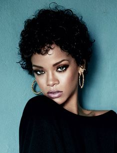 Rihanna's Curly Crop :D...I love it!!...I'm growing out my pixie now and I need ideas !!!
