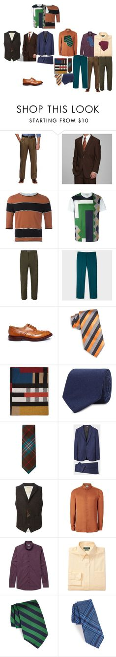 """Контрастная осень"" by katerina-kat-1 ❤ liked on Polyvore featuring Haggar, Telfar, Salvatore Ferragamo, Topman, Countess Mara, Burberry, Drakes London, DeSanto, PS Paul Smith and Al Duca d'Aosta"