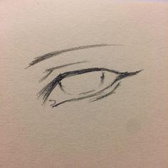 Art Drawings Sketches Simple, Pencil Art Drawings, Cool Drawings, Drawing Expressions, Art Inspiration Drawing, Cartoon Art Styles, Eye Art, Art Reference Poses, Art Sketchbook