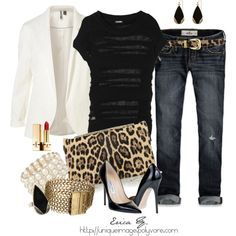 Touch of Leopard, created by uniqueimage on Polyvore