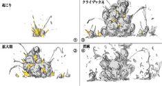 基礎から学ぶ爆発エフェクトの描き方|イラストの描き方 How to Draw Explosions Comic Drawing, Environment Concept, Anime Figures, Drawing Techniques, Art Tips, Drawing Reference, Art Education, Art Drawings, Graffiti