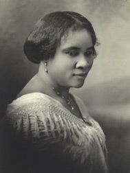 Madam C. J. Walker - America's first great female entrepreneur and founder of developing a line of hair care products for African-American women.