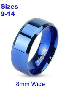 Stainless Steel Royal Blue  Band Size 9-14. Pick 1. Starting at $1