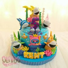 #Birthdaycake #customcake #customcakejakarta #partyfavour #kueulangtahunjakarta #jajanjakarta #delicious #sweettable #fondant3D #caketopper #sugarart #olanoscakes #olanos #jakarta #yummy #amazing #instafood #sweet #cake #olshopcake #jktfoodies #babyshark #babysharkcake #pinkfong