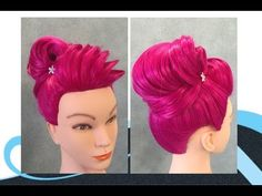 Opsteken met vulling, updo with padding - YouTube