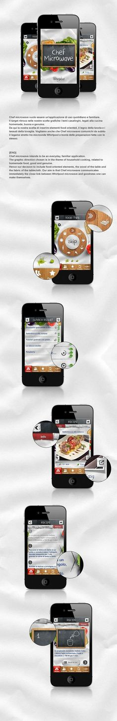 Chef Microwave - Whirlpool App by Santi Urso #mobile #app #behance