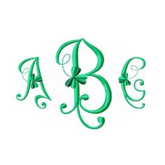 monogram font...love the clovers
