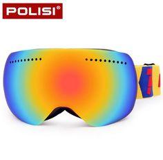 b90ed88cdd73 POLISI Winter Skiing Eyewear Children Kids Outdoor Sport Ski Snowboard Goggles  UV Protection Anti-Fog Clear Lens Glasses