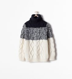 CABLE KNIT JUMPER from Zara